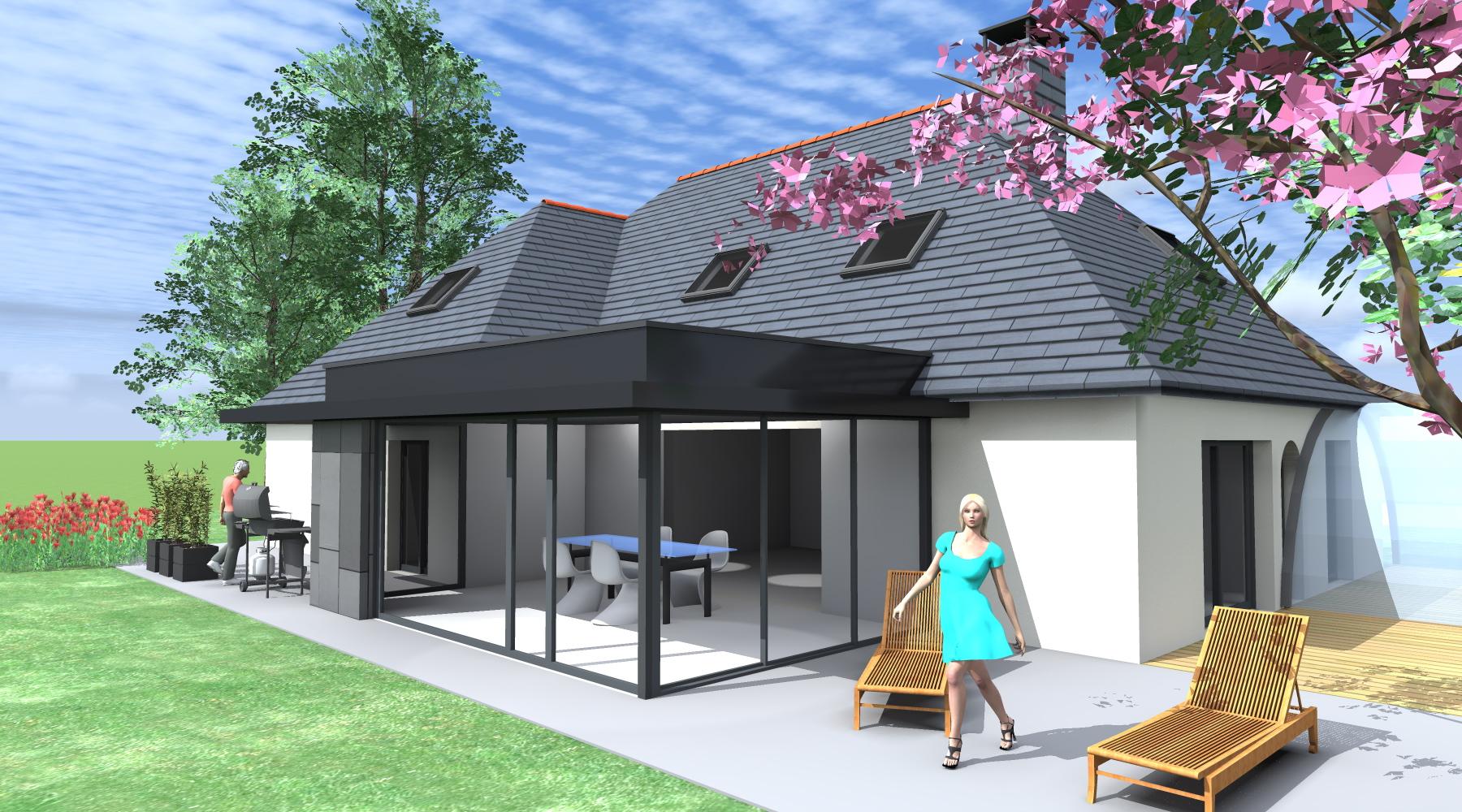 Veranda maison neuve - veranda-styledevie.fr