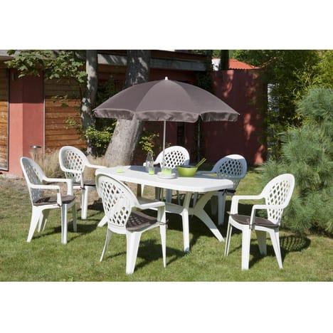 Table et chaise de jardin en plastique auchan veranda - Table et chaise de jardin plastique ...