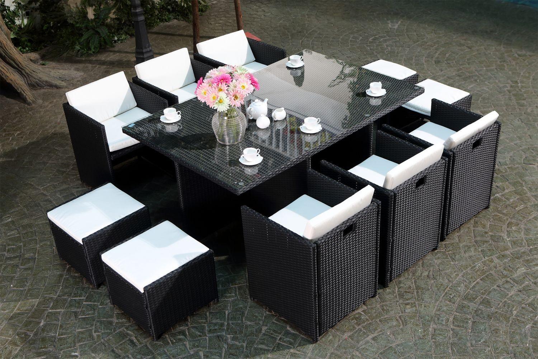 Table de jardin tress veranda - Table de jardin tresse pas cher ...