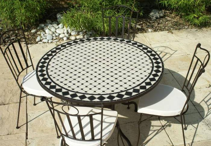 Table jardin ronde - veranda-styledevie.fr