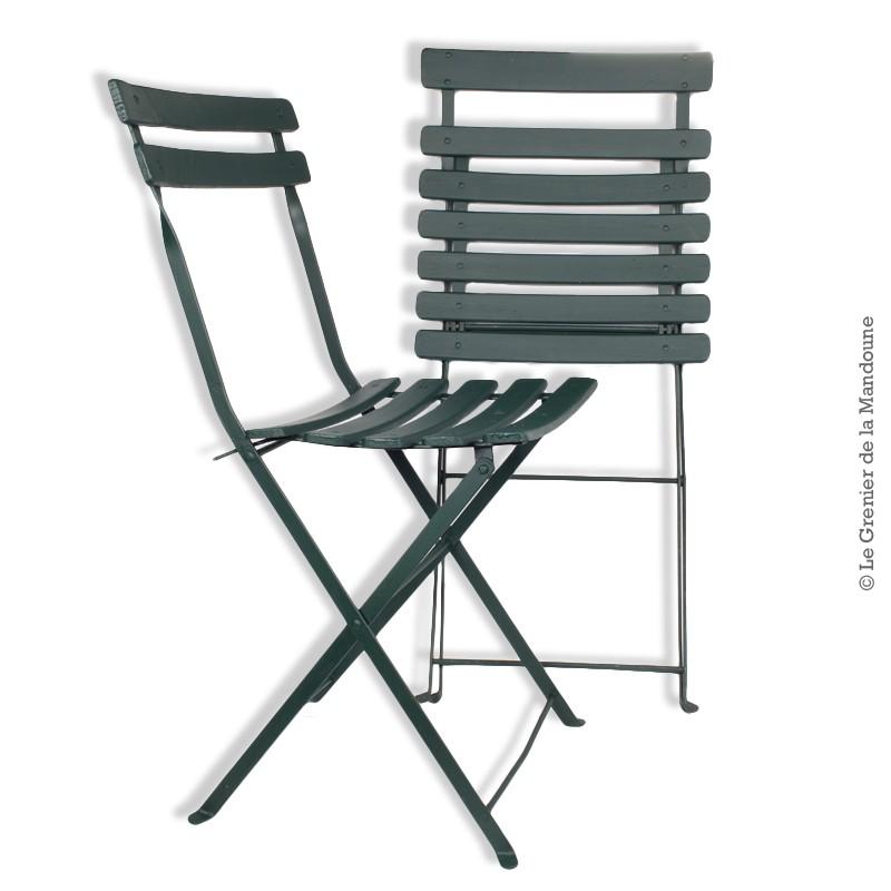 Chaise de jardin pliante ancienne - veranda-styledevie.fr