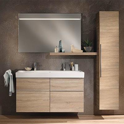 Meuble haut salle de bain bois clair - veranda-styledevie.fr