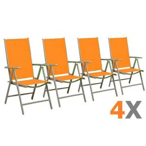 Chaise Jardin Resine Orange