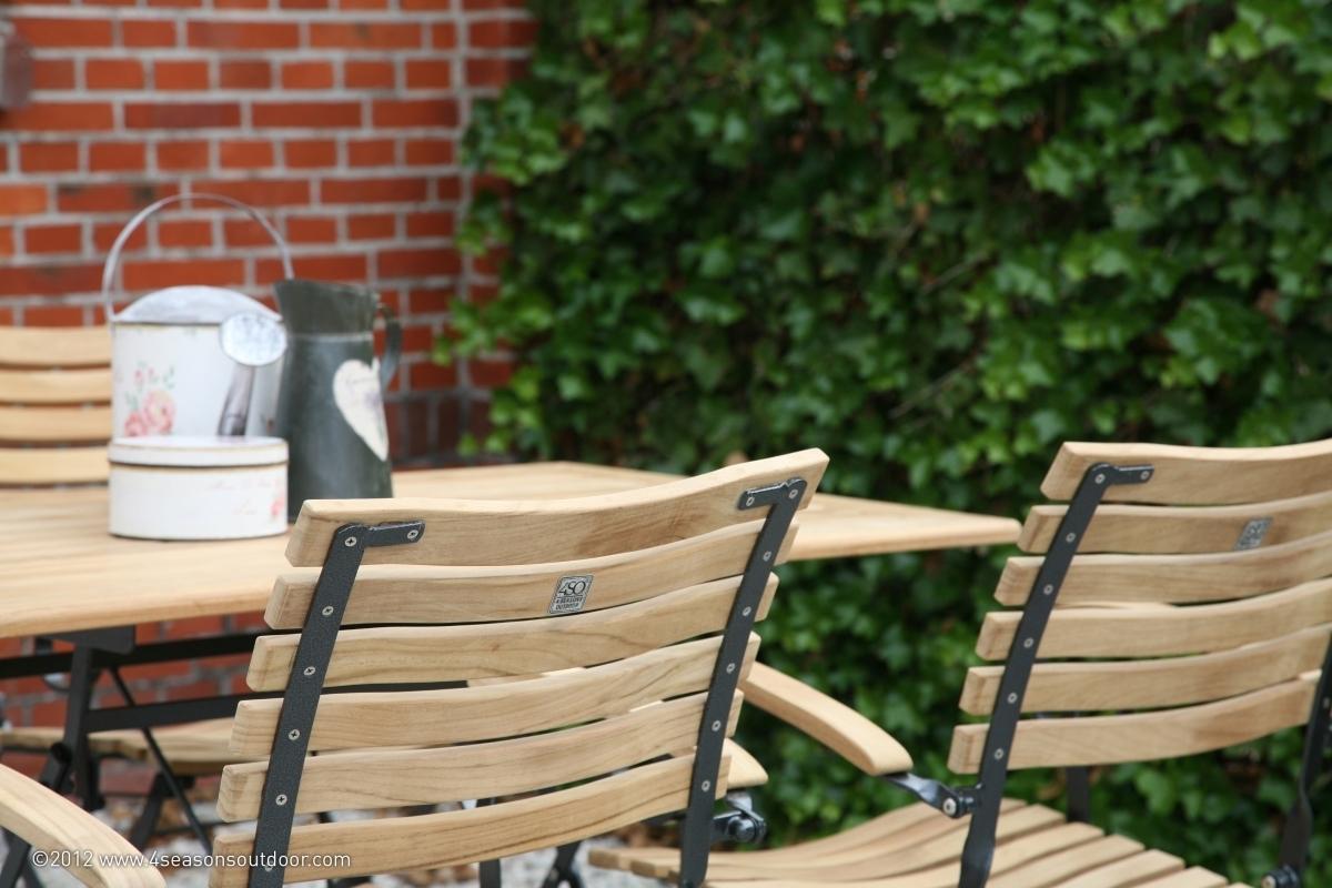 Chaise jardin fer forgé et bois - veranda-styledevie.fr