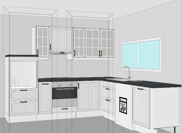 Combien mesure un meuble d 39 angle de cuisine veranda - Colonne d angle cuisine ...