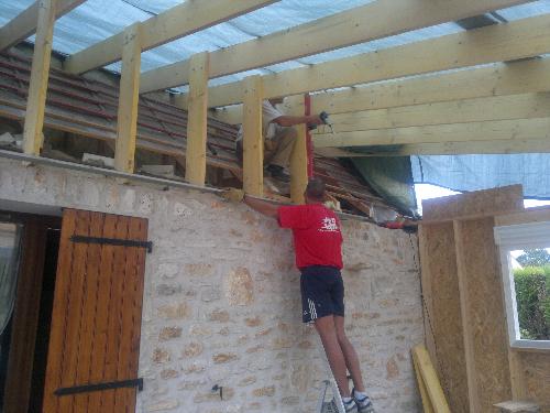 Ossature bois pour veranda