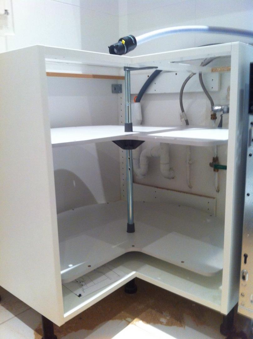 Kit pour meuble d 39 angle cuisine veranda - Evier de cuisine d angle ...