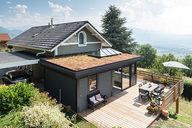 Veranda avec toit plat - veranda-styledevie.fr