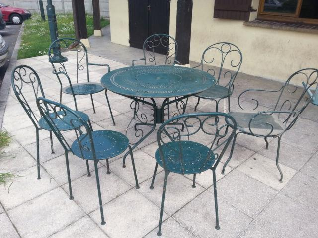 Salon de jardin fer forgé - veranda-styledevie.fr