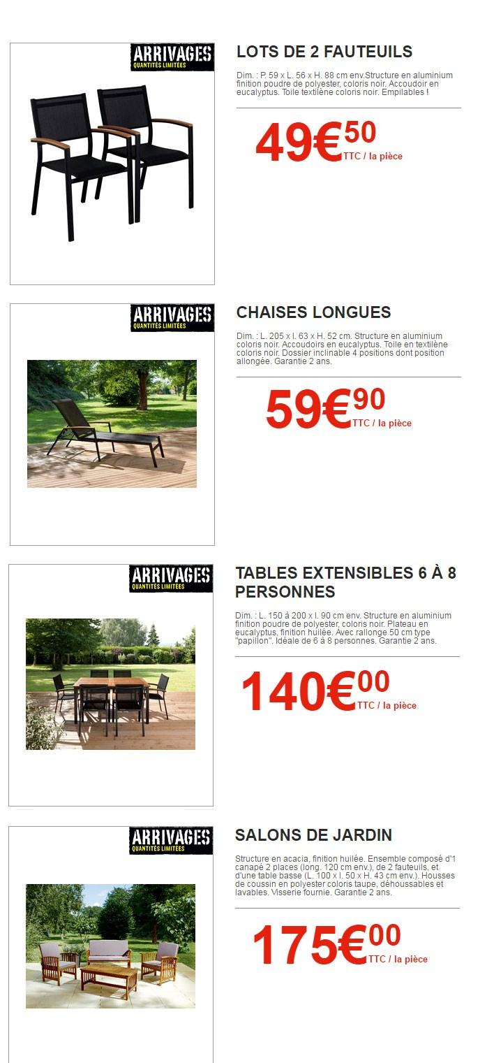 Table Chaise Jardin Brico Depot