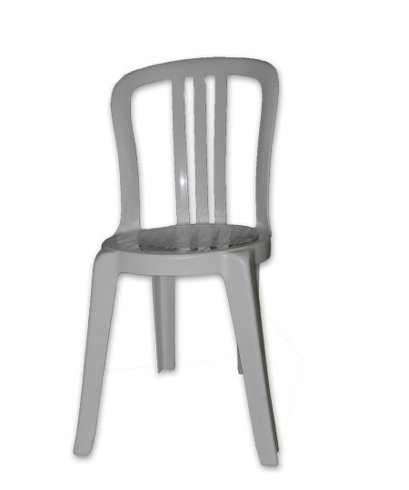 Chaise De Jardin Blanche Pvc
