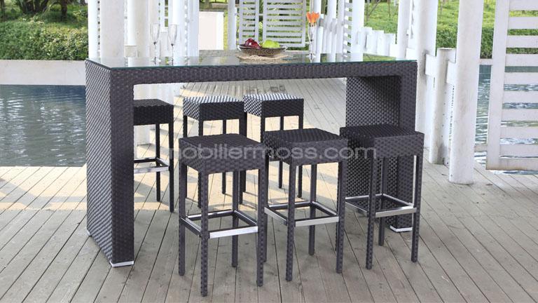 Table et chaise haute jardin - veranda-styledevie.fr