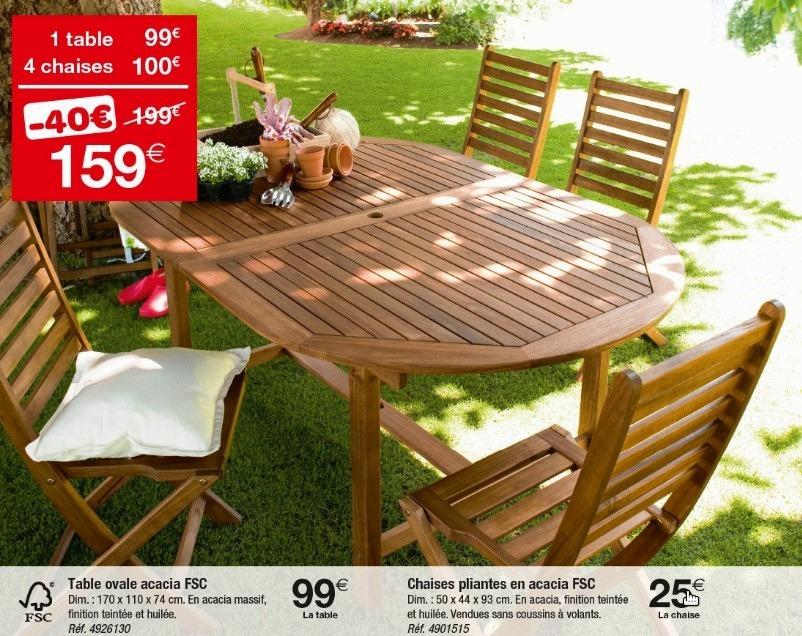 Chaise salon de jardin carrefour - veranda-styledevie.fr