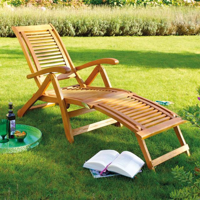 Chaise longue jardin tendance veranda - Chaise longue de jardin pas cher ...