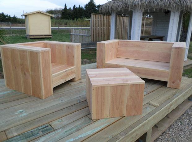 Meuble exterieur veranda - Meuble de jardin en bois ...