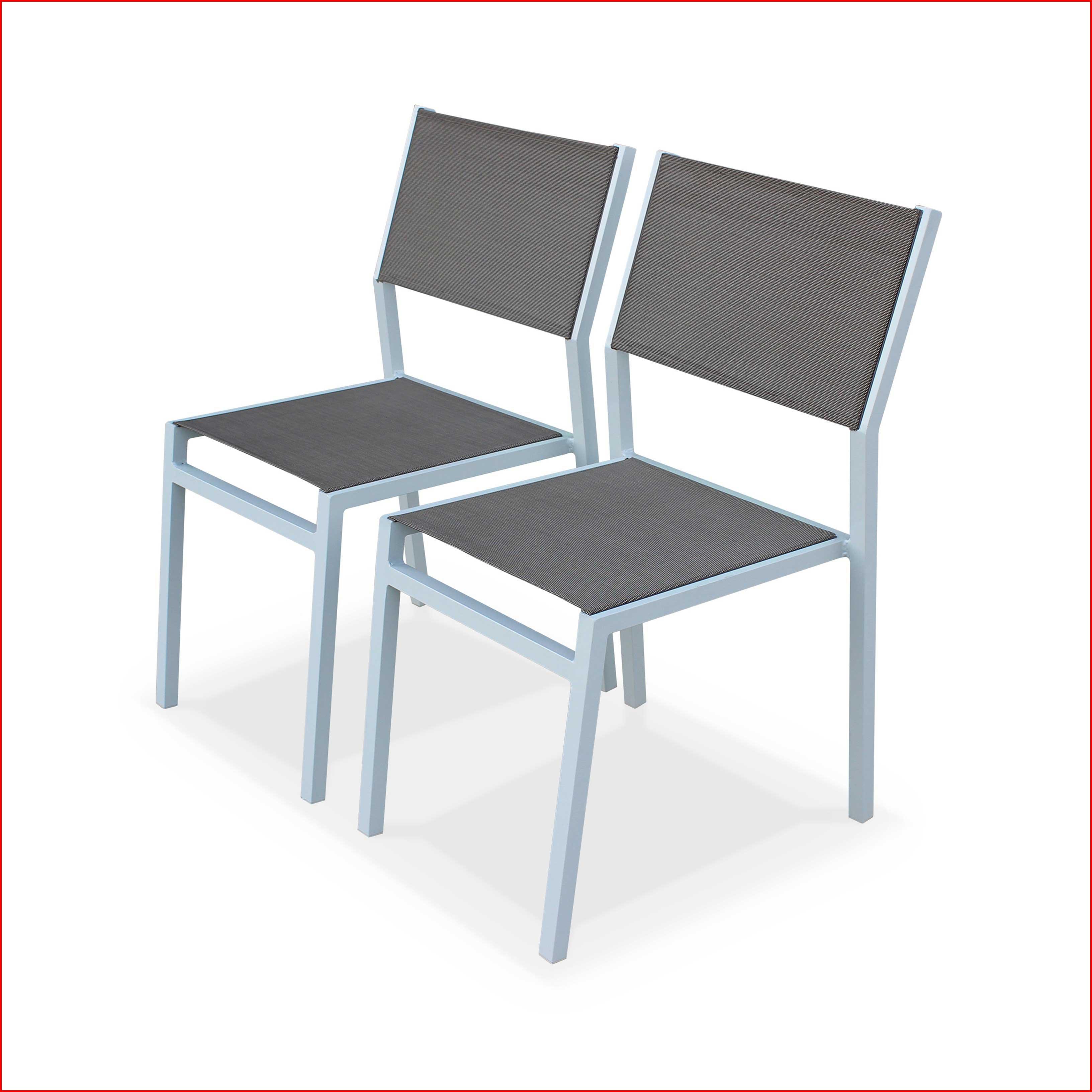 Chaise de jardin alu blanc - veranda-styledevie.fr