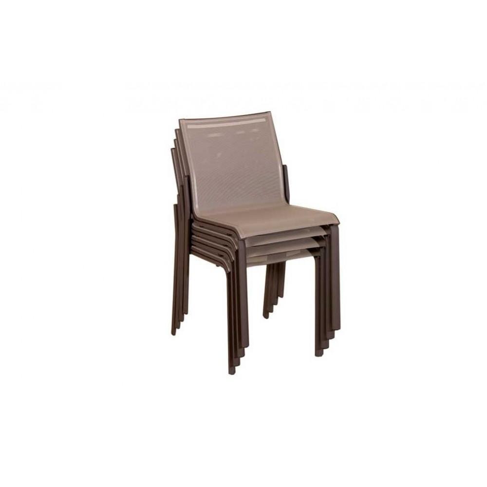 Chaise de jardin empilable alu - veranda-styledevie.fr