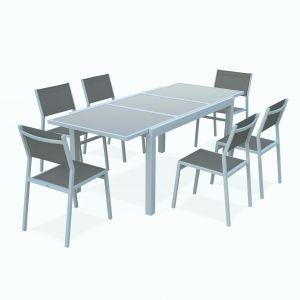 Ensemble table chaise jardin alinea - veranda-styledevie.fr