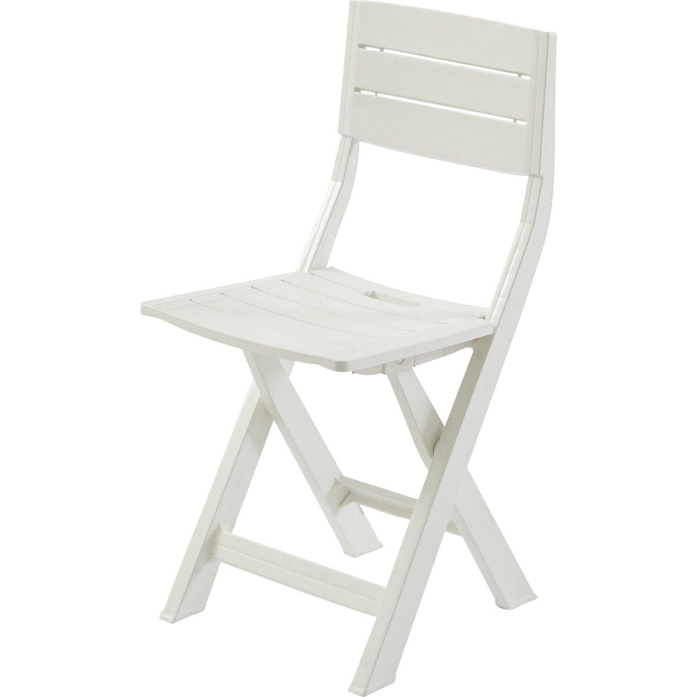 Chaise Jardin Plastique Blanc