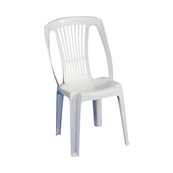 Chaise de jardin blanche allibert - veranda-styledevie.fr