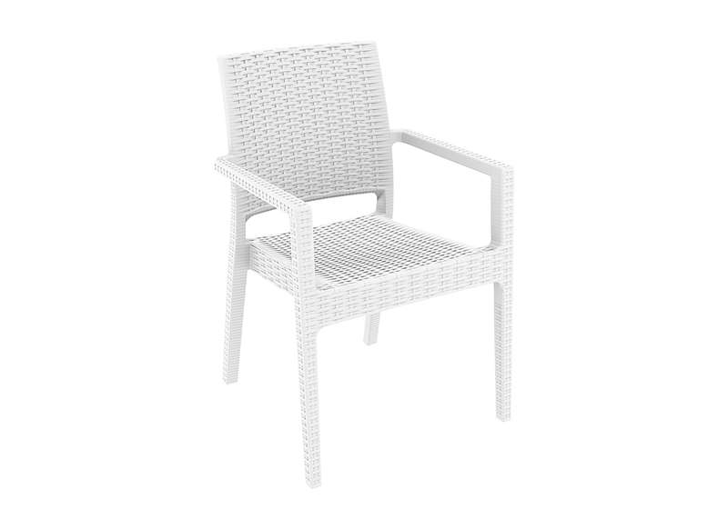 Chaise jardin resine blanche