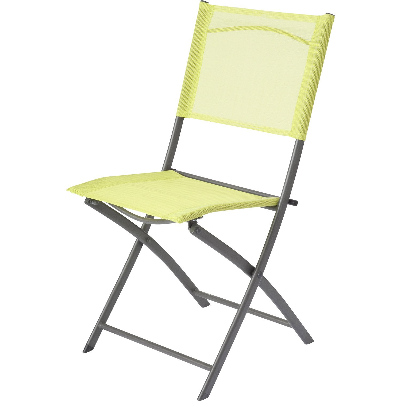 Chaise De Salon De Jardin Vert Anis Veranda Styledevie Fr