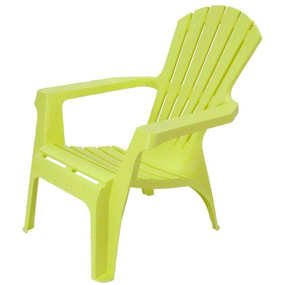 Chaise de salon de jardin vert anis - veranda-styledevie.fr