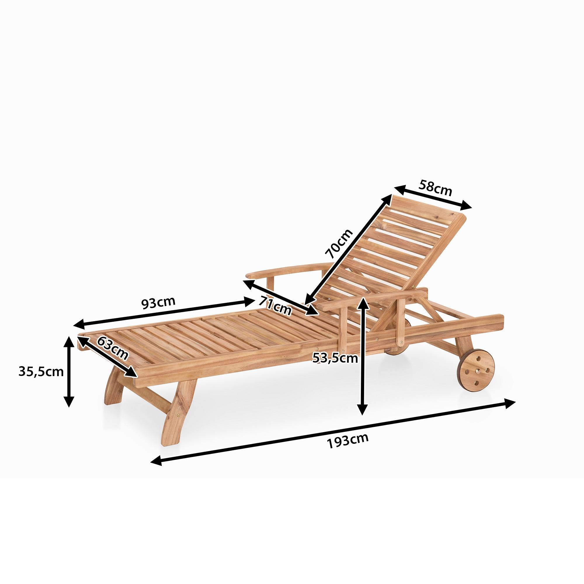 Chaise longue jardin bois veranda - Chaise longue de jardin pas cher ...
