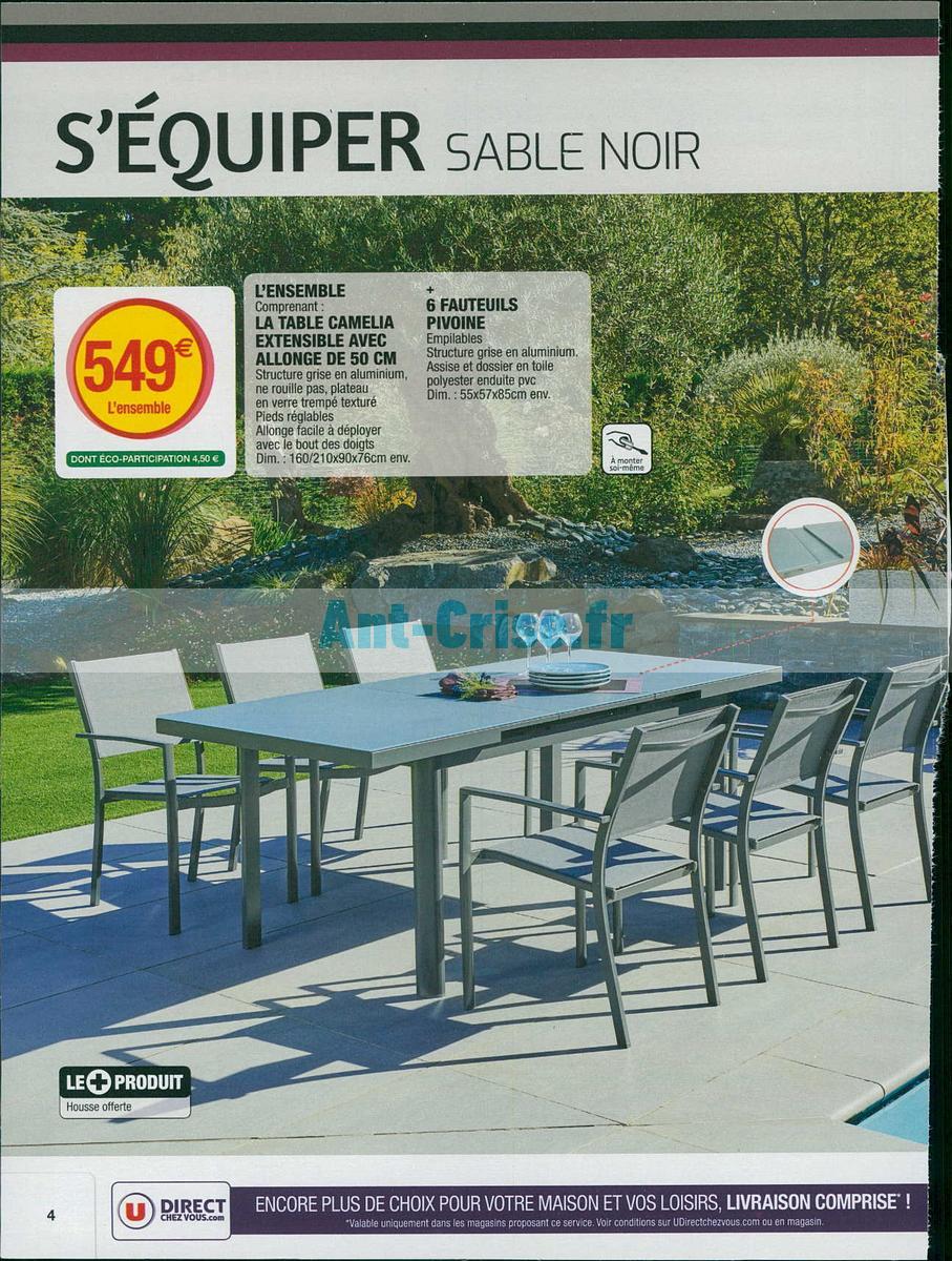 Table et chaise de jardin hyper u - veranda-styledevie.fr