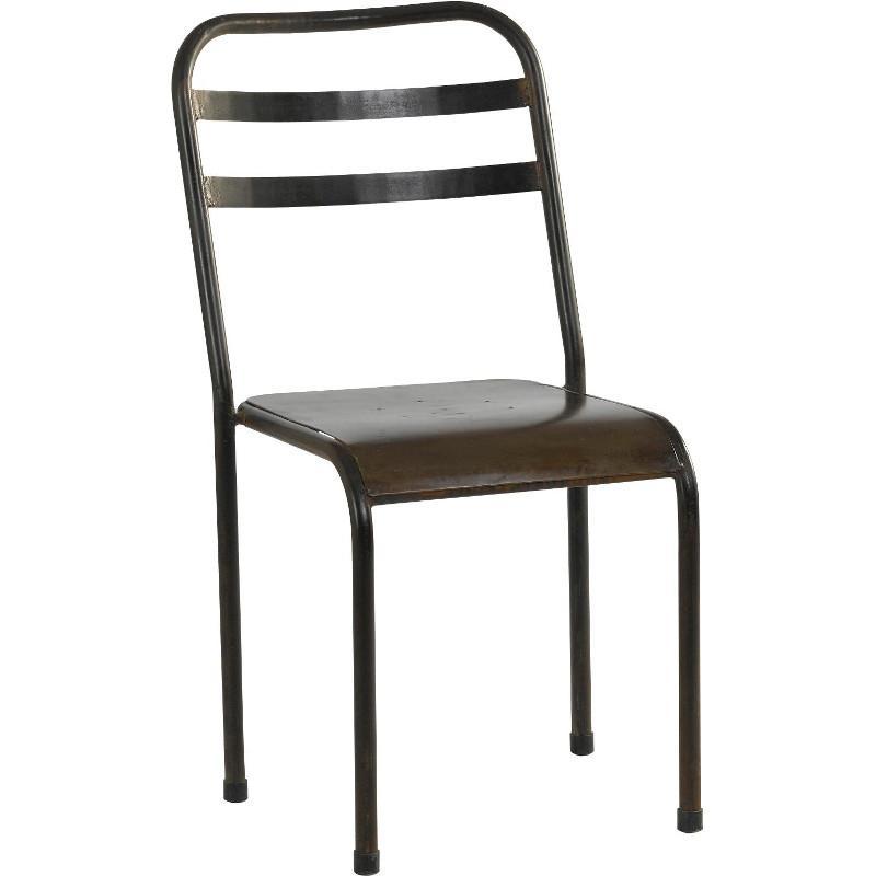 Chaise de jardin en métal saba - veranda-styledevie.fr