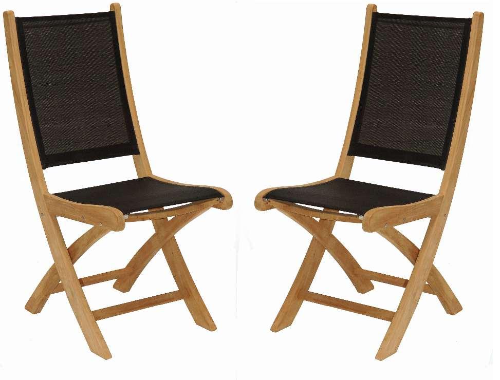Chaise de jardin bois et tissu - veranda-styledevie.fr