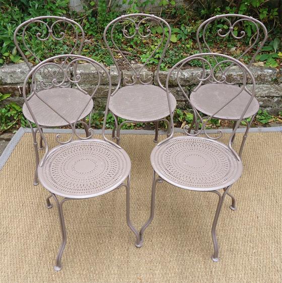 Table Et Chaise De Jardin En Fer Pas Cher