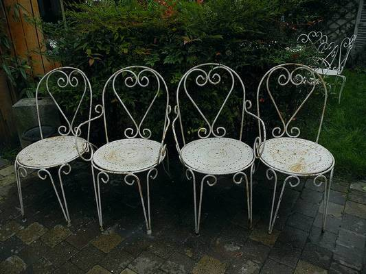 Chaise jardin metal retro - veranda-styledevie.fr