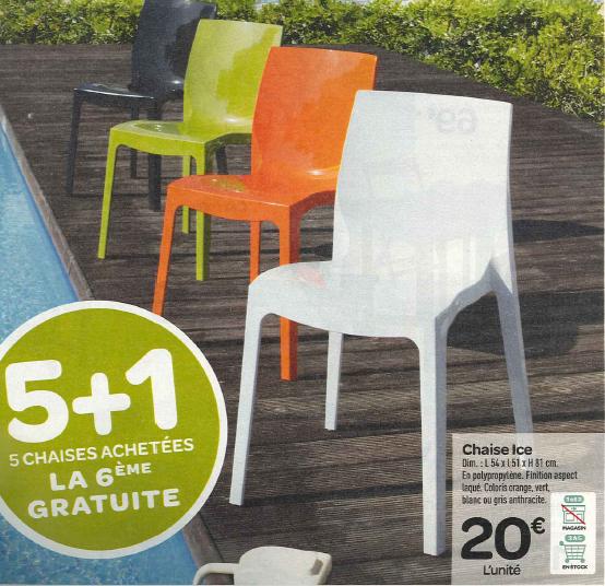 Chaise jardin carrefour home - veranda-styledevie.fr