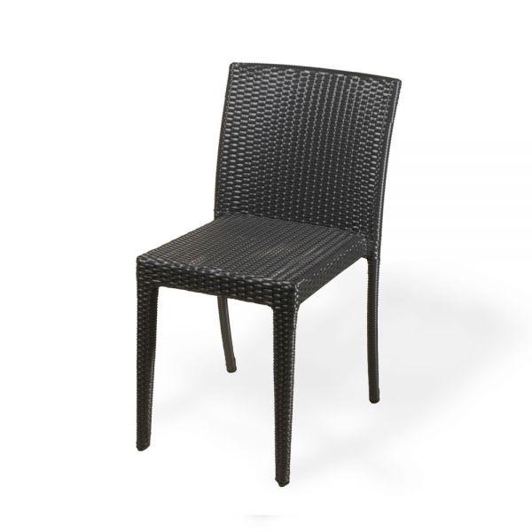 Chaise jardin resine tressee noir veranda - Chaise de jardin en resine ...