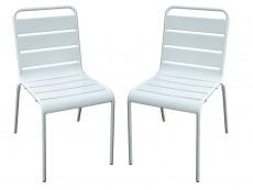 Chaise de jardin en metal blanc