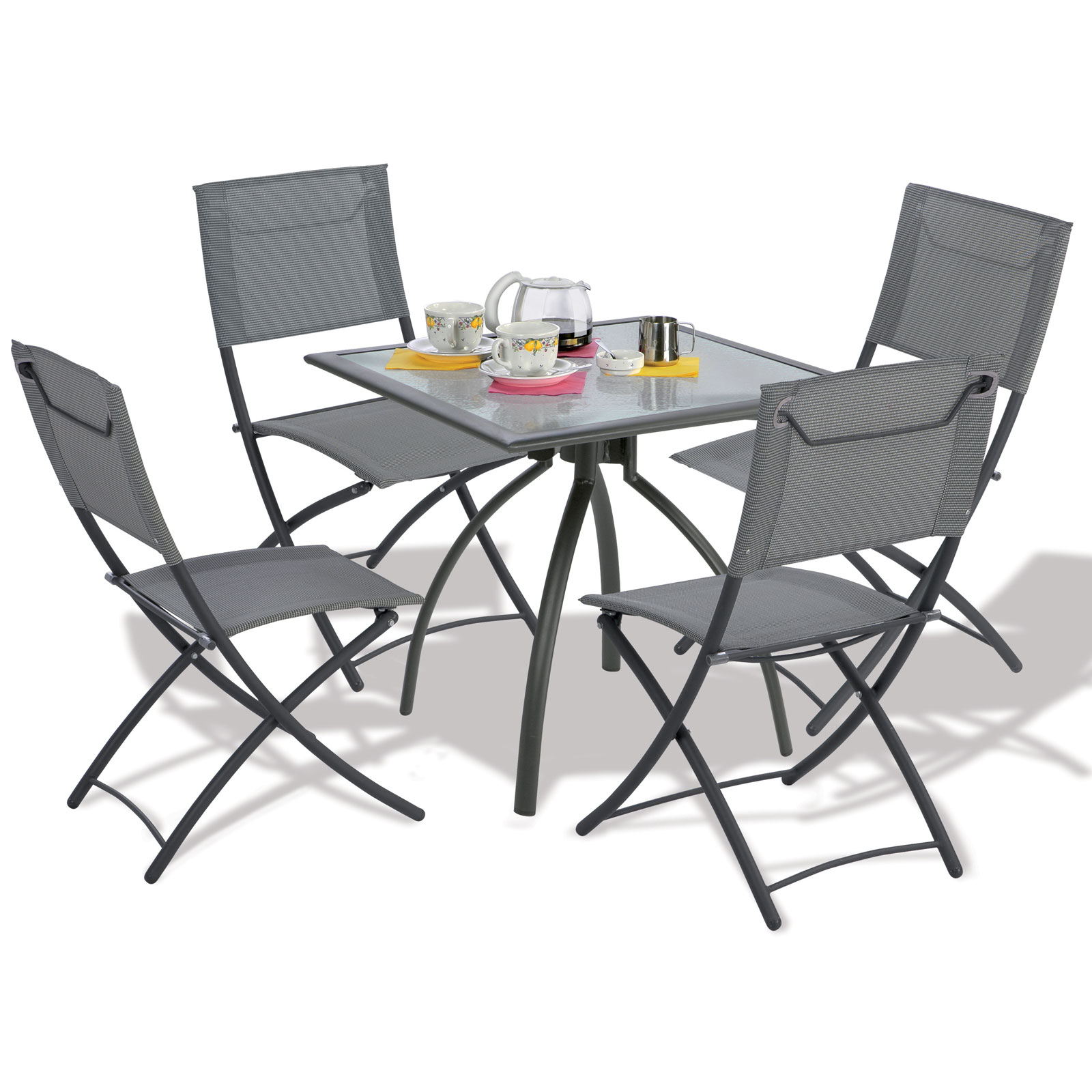 Ensemble table et chaise de jardin en plastique - veranda-styledevie.fr