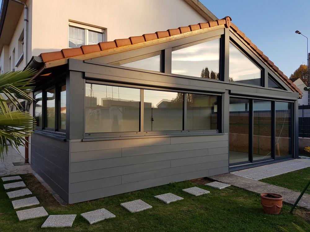 Kit veranda ossature bois veranda - Agrandissement maison veranda ...