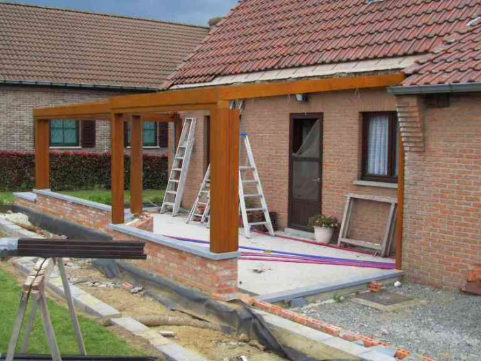 Veranda en bois ouverte - veranda-styledevie.fr