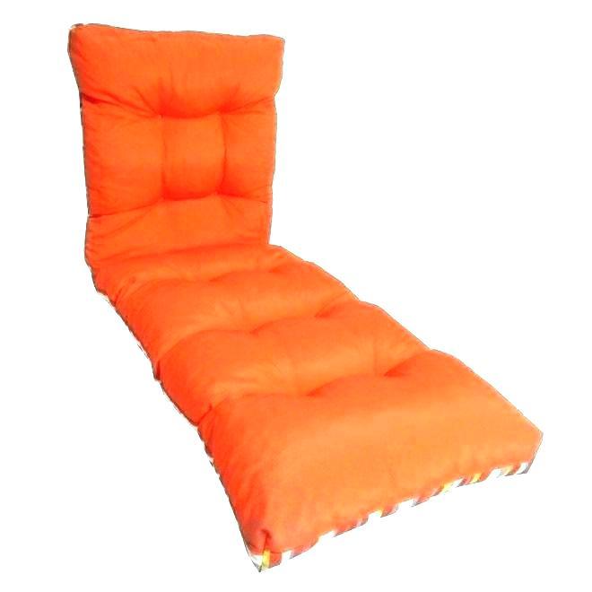 Coussin chaise jardin orange - veranda-styledevie.fr