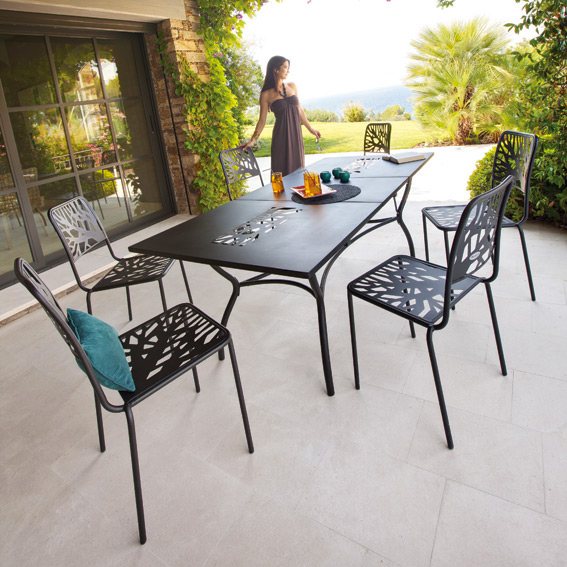 Beautiful Table De Jardin Metal Noir Images - House Design ...