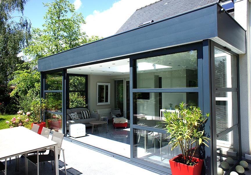 Veranda alu toit plat veranda - Agrandissement maison veranda ...
