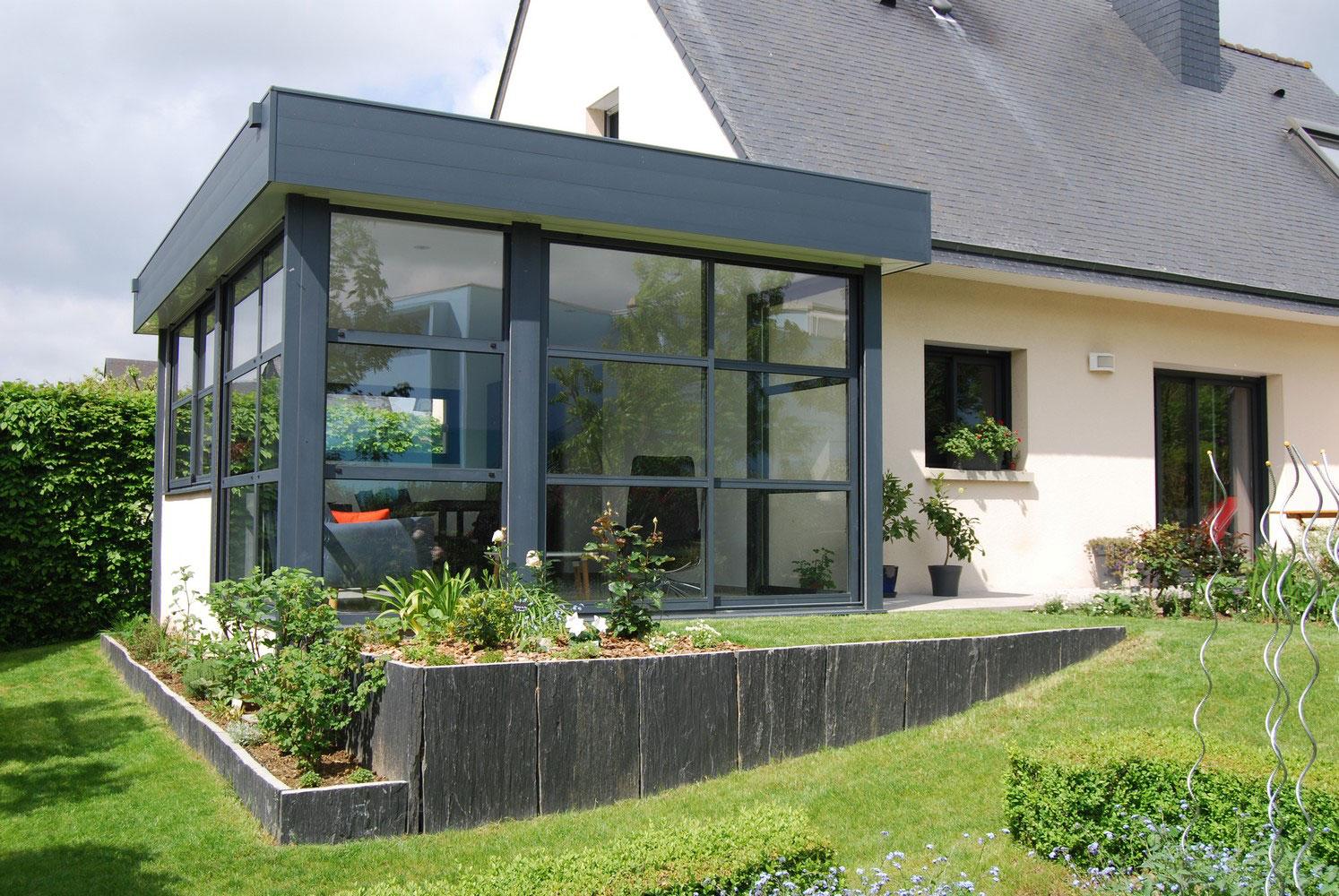 photo veranda toit plat veranda. Black Bedroom Furniture Sets. Home Design Ideas