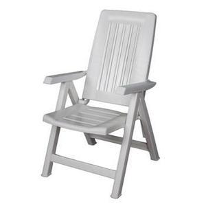 Chaise De Jardin Pvc Blanche