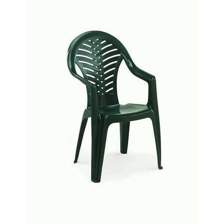 Chaise de jardin plastique verte
