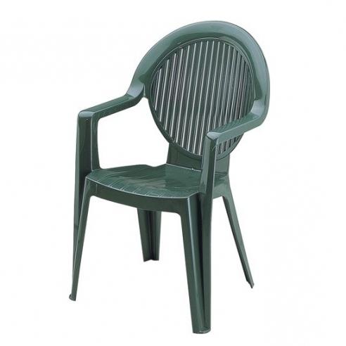 Chaise jardin verte grosfillex - veranda-styledevie.fr