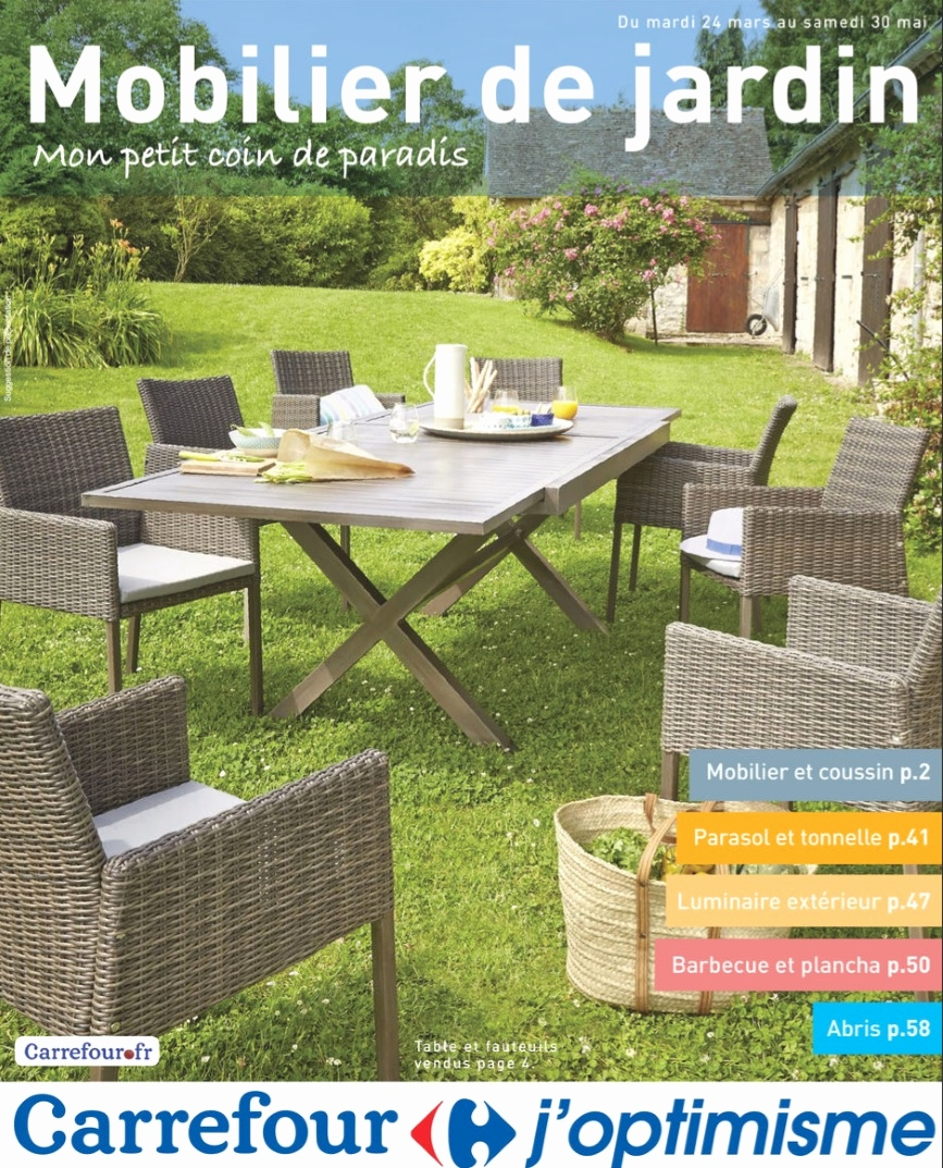 Ensemble Table Chaise Jardin Carrefour Veranda Styledeviefr