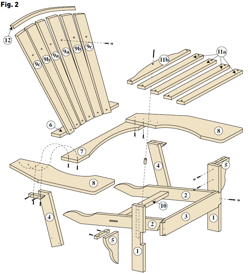 Fabriquer chaise jardin en bois - veranda-styledevie.fr