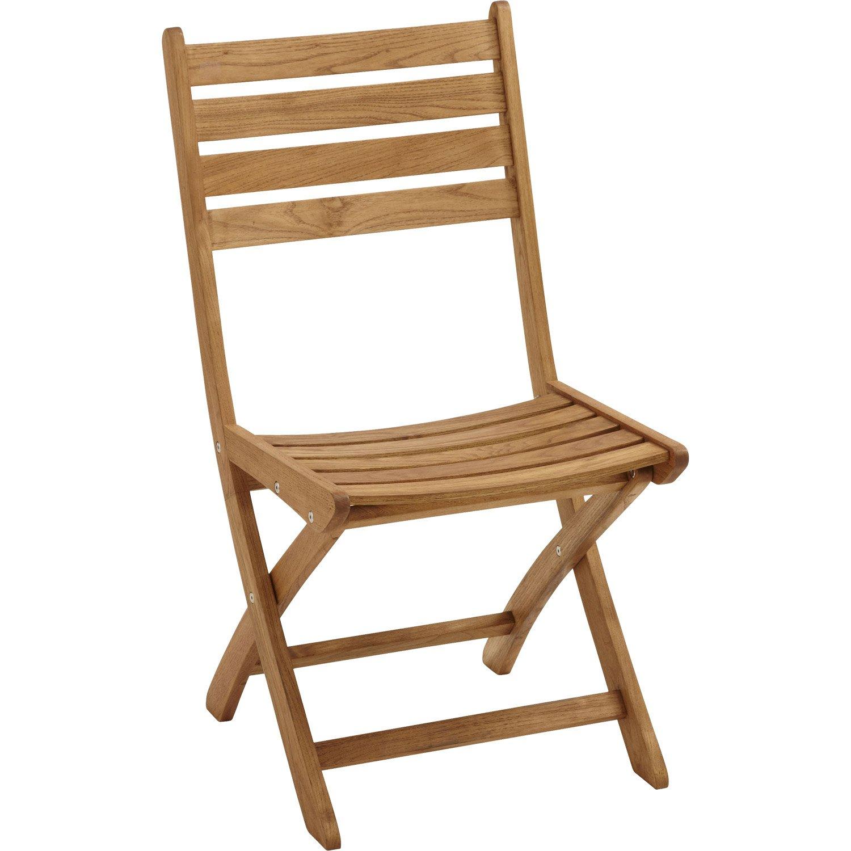 Chaise de jardin bois - veranda-styledevie.fr