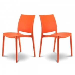Chaise Jardin Orange